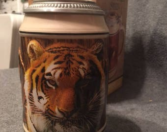 Stein Budweiser Endangered Species Series Asian Tiger COA NWF