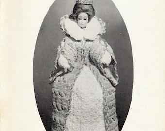 1972 Doll Crochet vintage pattern booklet Queen Elizabeth I  24 pages DIGITAL Instant Download PDF Granny Squares Leotards