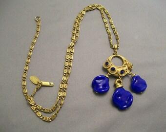 MIRIAM  HASKELL  Stunningly Unique  Pendant  Necklace