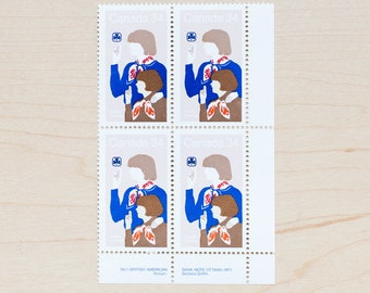 Girl Guides Postage Stamps Vintage Canada Calligraphy Envelopes Letter Writing Canadian Camp Women 1985 Scouts