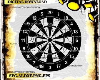 Dart Board Vector Images SVG Files Digital Cutting Files  Ai - Eps - PNG - DXF - Svg - A1