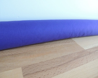 Door draft Stopper. Door or window snake. Draught excluder. House and home accessory.eco friendly energy saver. purple draft stopper
