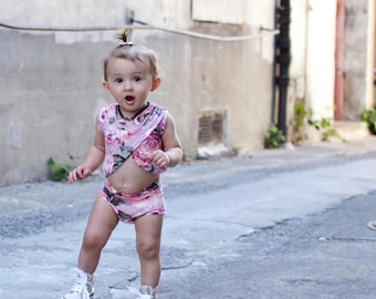 Baby girl outfit / Floral baby romper / Toddler girl romper / Girls romper / Boho baby girl clothes / Summer baby girl clothes /Girls outfit