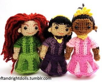 Princess doll - Handmade crochet original design doll