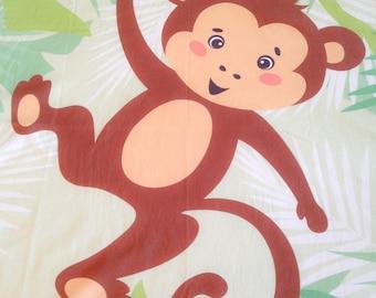blanket fleece baby monkey