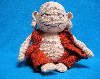 Amigurumi Laughing Buddha Happy Monk PDF CROCHET PATTERN Doll Toy
