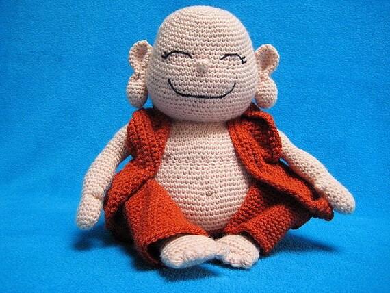Amigurumi Magazine Pdf : Amigurumi laughing buddha happy monk pdf crochet pattern doll
