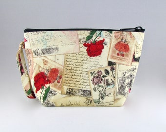 Love Letters Makeup Bag - Accessory - Cosmetic Bag - Pouch - Toiletry Bag - Gift