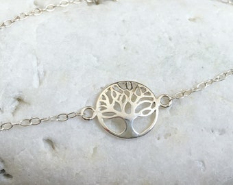 Silver Tree of Life Bracelet - Solid Sterling Silver 925 Tree Bracelet