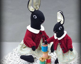 Waldorf Style Dolls - Bunny Sisters