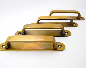 Brass Drawer Handles Brass Pulls Vintage Drawer Pull Cupboard Drawer Handles Kitchen