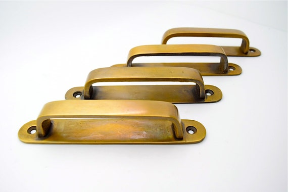 Brass Drawer Handles Brass Pulls Vintage Drawer Pull Cupboard Drawer Handles Kitchen Handles Pulls Antique Retro Solid Brass Handles From Thefoundryman
