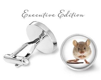 Mouse Cufflinks - Field Mouse Cuff Links - Rodent Cufflinks (Pair) Lifetime Guarantee (S0745)