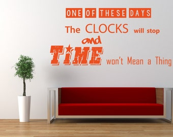 Foo Fighters, Dave Grohl, Song Lyrics Quote, 'These Days', Vinyl Wall Art Sticker, Mural, Decal. Home, Wall Decor