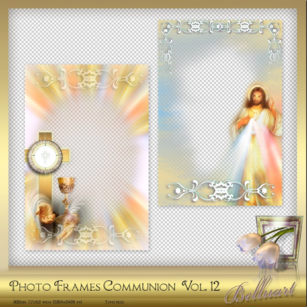 2 Digital Photo Frames First Communion Confirmation Vol. 12 ...