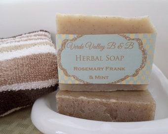 Rosemary  Frank & Mint Soap, Rosemary Bar Soap, Rosemary Soap Bar, Rosemary Bath Soap, Handmade Soap, Herbal Soap, Natural Soap, Vegan Soap