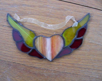 Stained Glass Winged Heart