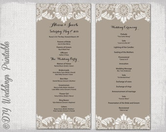 Wedding program template black white wedding program black for Christian wedding order of service template