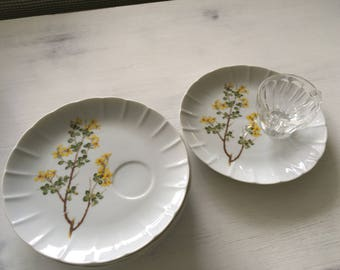 Vintage Set of Six Snack Plates, Vintage Plates , Snack Plates