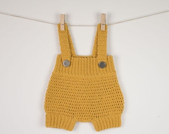 CROCHET PATTERN - Crochet Baby Romper /Onesie /Playsuit/Overall  - Little Cookie - PDF