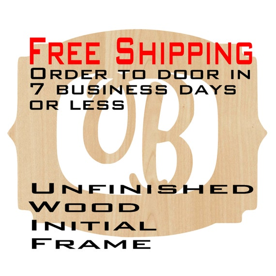 Unfinished Wood Brooke Frame Monogram, Name, Word, Custom, laser cut wood, wooden cut out, Wedding, Personalized, DIY