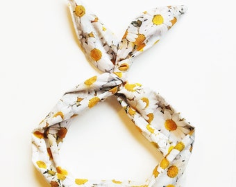 Daisy Print Wire Headband