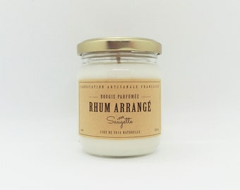 Rum - handcrafted scented soy wax candle