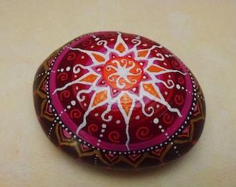 Mandala stone paperweight, paperweight, Mandala Art, Mandala rock handpainted, art, collectible, decorative