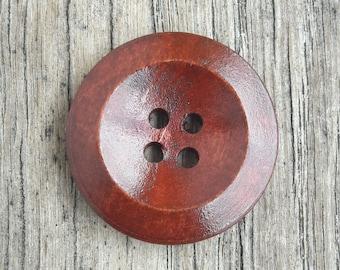 Heleboel 5 knoppen 25mm, houten, ontwerp