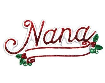 New Grandma Ornament Nana Ornament Grandma Gift Grandparent Ornament Grandma Personalized Christmas Ornament Family Ornament