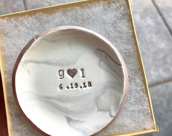 Personalized Ring Dish, Wedding Ring Holder, Marble Jewelry Dish, Personalized Dish, Decorative Dish, Jewelry Dish, Ring dish, Key Holder