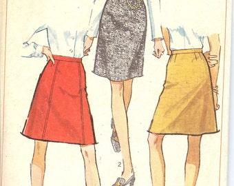 Simplicity 7995  1960's Set of Skirts   ID144