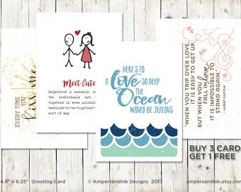 Buy 3 Get 1 FREE - Greeting Card with A6 envelope