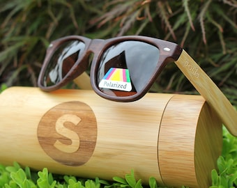 BAMBOO SUNGLASSES - Free Case, Free Delivery, Polarised, Eco Friendly & More!