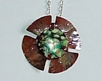 Separation Enamel Copper Pendant
