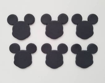 12 Mickey Mouse Head Cupcake Fondant Toppers