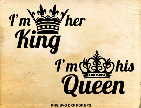 King And Queen Font By Weknow: King And Queen Svg Files Wedding Svg His Hers Vector Svg