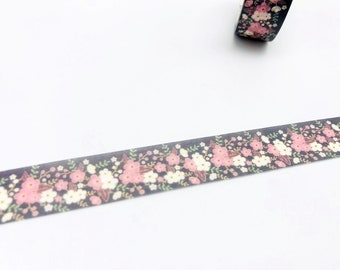 Floral Washi Tapes - Masking Tape - Japanese Washi Tape - Paper tape - Decorative tape - Planner tape - Scrapbooking Tape