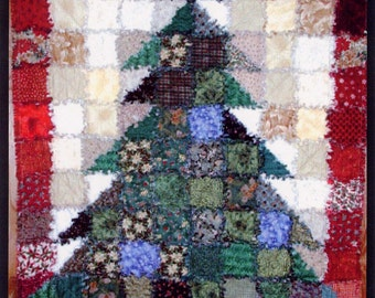 PATTERN:  Oh Christmas Tree, Rag Quilt