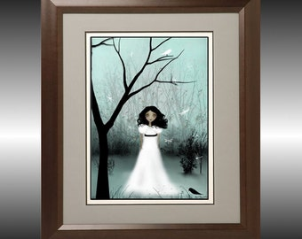 I Will Be Your Light --- Melancholy Girl -- Art Print - Shown in Gothic Beauty Magazine