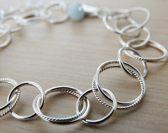 Silver Circles Bracelet - Sterling Silver