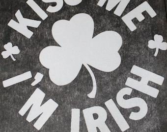 Kiss Me I'm Irish Heat Transfer
