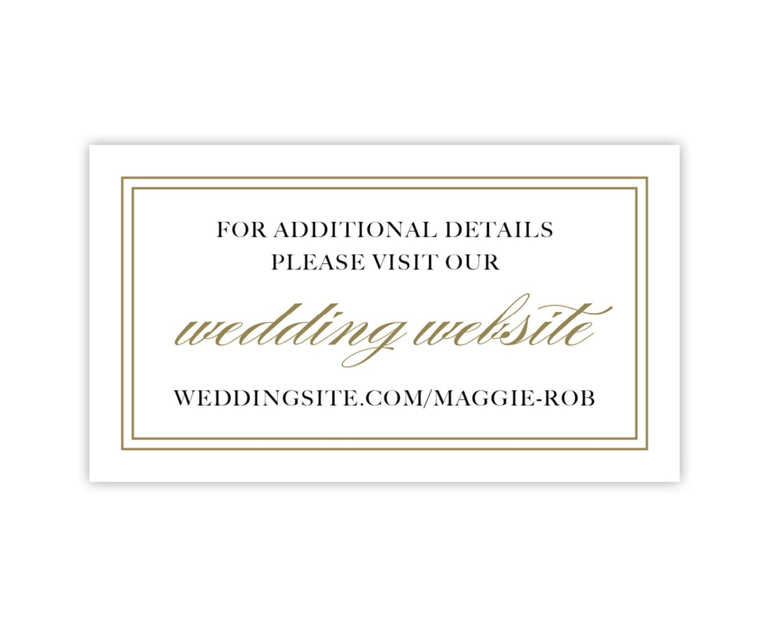 Wedding Gift Registry Website: Wedding Website Cards, Enclosure Cards, Wedding Hashtag