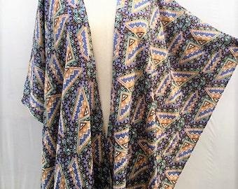 Gift Women wiomens Ponchos poncho,  Kimono Cardigan, Plus size clothing, Gift woman women, Handmade gifts items, aztec tribal print, PiYOYO
