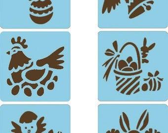 Set stencil child Easter x 6 - Avenue Tangerine - Ref 42456 - until the stock!