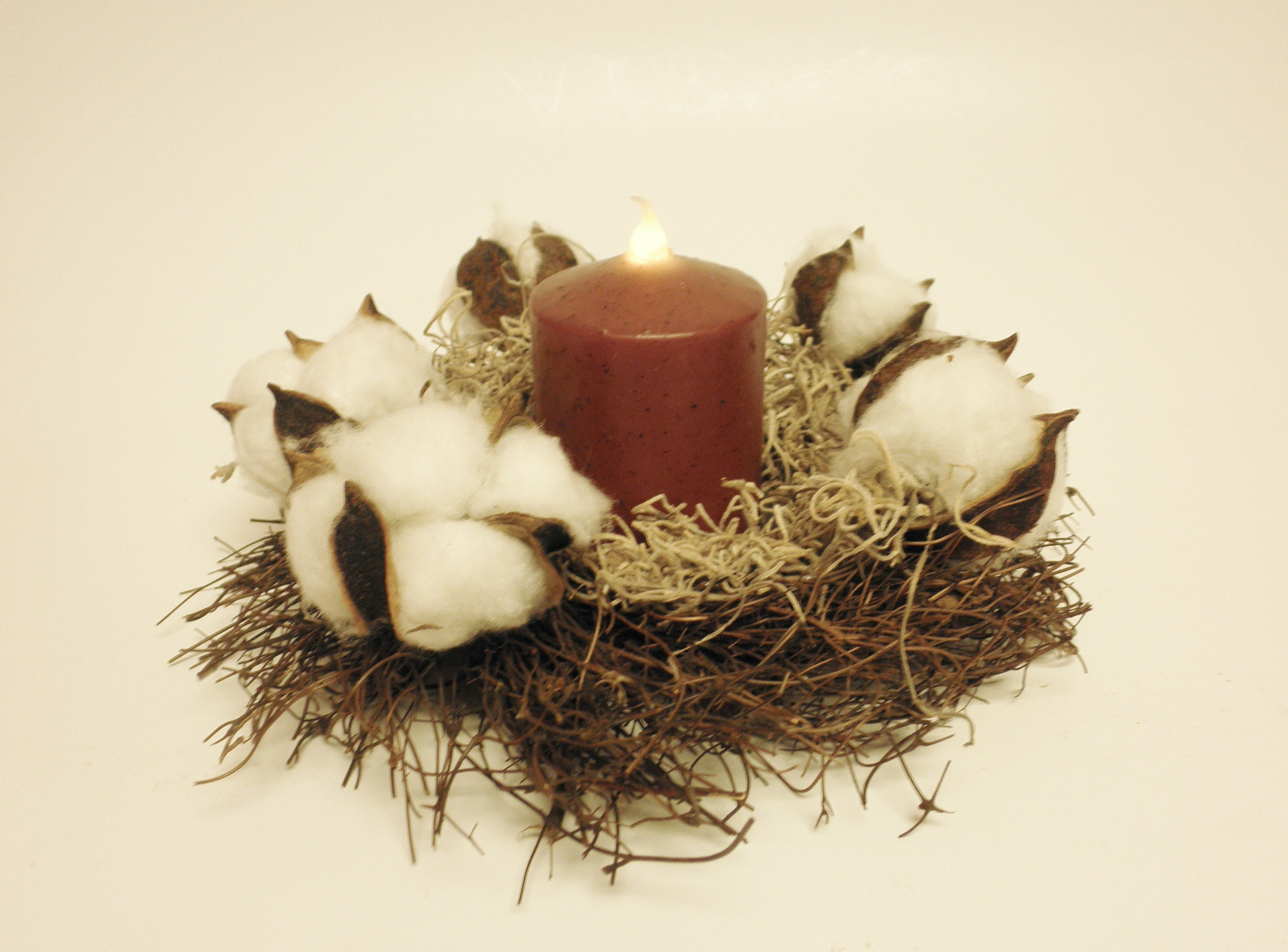 primitive boll rings country decor candle farmhouse il fall cotton listing ring fullxfull