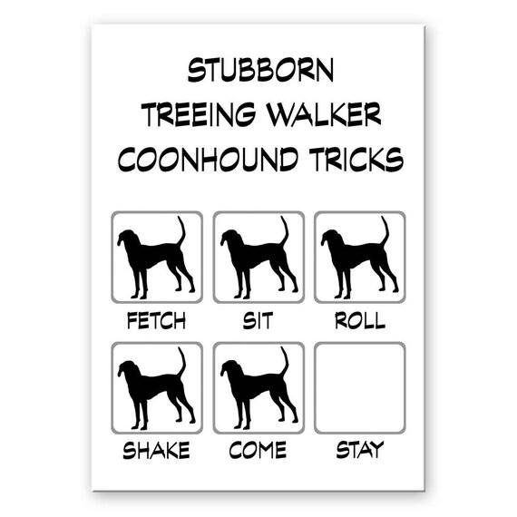 Treeing Walker Coonhound Stubborn Tricks Fridge Magnet