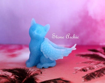Blue winged resin kitty