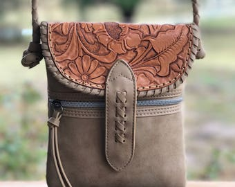 Hand Tooled Leather Satchel