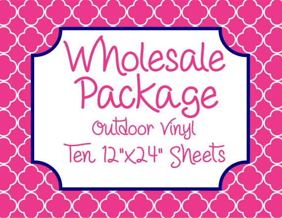"""Wholesale Package for Ten 12""""x24"""" Outdoor Vinyl Sheets // Beautiful, Vibrant Patterns"""